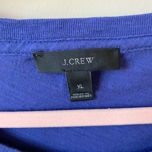 J. Crew Tops - J Crew blue salut graphic tee #934